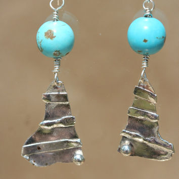 Sterling Silver Magnesite Earrings by LesleyPridgen on Etsy