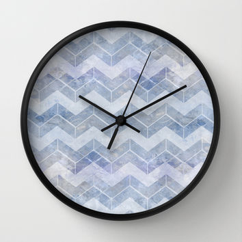 abstract pattern blue Wall Clock by VanessaGF