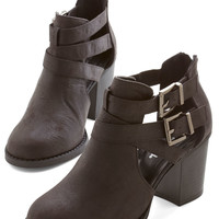 Adventure Essentials Bootie in Black | Mod Retro Vintage Boots | ModCloth.com