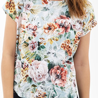 Boxy Butterfly & Flower Top