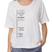 Mary Poppins Measuring Tape Oversized TShirt by Cakeworthy