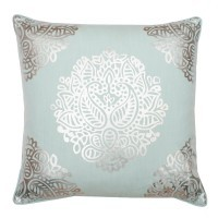 Hailee Foil on Faux Linen Square Pillow