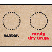 WATER. NASTY DRY CRAP. MAT
