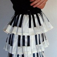 Piano Key Skirt by devaniNYC on Sense of Fashion
