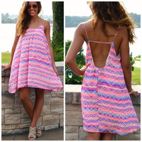 Cabo Wabo Neon Tribal Swing Dress
