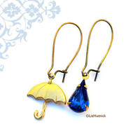 It's Raining Earrings by LizHutnick on Etsy