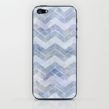 abstract pattern blue iPhone & iPod Skin by VanessaGF