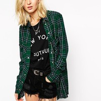 River Island | River Island Green Check Shirt at ASOS