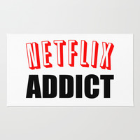 Netflix Addict Area & Throw Rug by Poppo Inc. | Society6