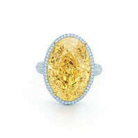 Tiffany & Co. - Oval Yellow Diamond Ring