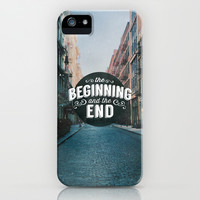 BEGINNING & END iPhone & iPod Case by Pocket Fuel