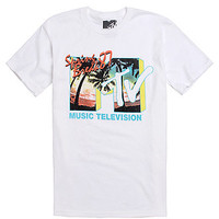 FIFTH SUN MTV Spring Break T-Shirt - Mens Tee - White -
