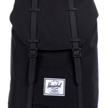 Herschel, Retreat Backpack - Black/Rubber - Herschel Supply - MOOSE Limited