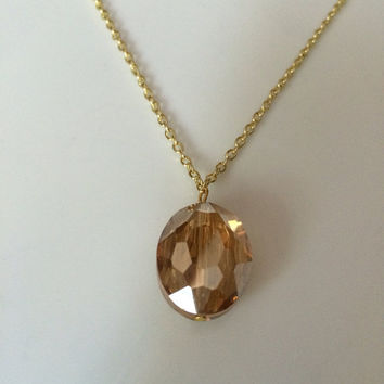Transparent Gold Bead Necklace