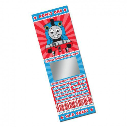 thomas the train personalized photo from