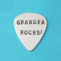 Guitar Pick, Personalized Guitar Pick Hand Stamped, Custom Guitar Pick, Father's Day Gifts, Gra | Luulla