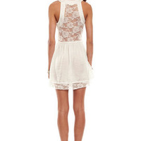 Day Lace Dress in Ivory :: tobi