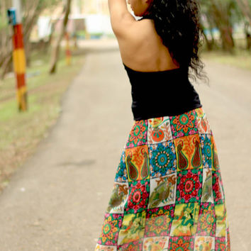 Long HIPPIE SKIRT - Bohemian PENCIL skirt - Maxi skirt, skirts for women, maxi long skirt, summer skirt, aline pencil skirt, womens skirt