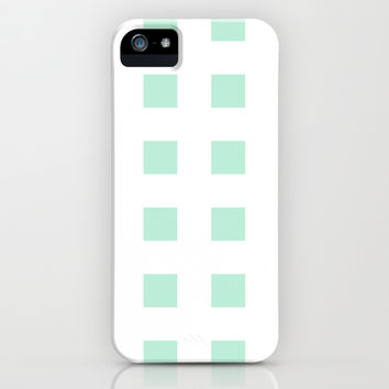 Cross Squares Mint Green iPhone & iPod Case by BeautifulHomes | Society6