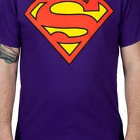 Purple Superman Logo Shirt