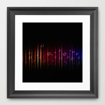 Bubbles and colors  Framed Art Print by VanessaGF