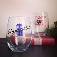 Fantastic and Are you my mummy Glass set