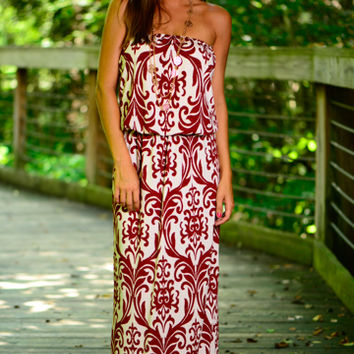 Elegant Affair Maxi, Red