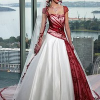 Buy discount Beautiful Elegant A-line Skirt Wedding Gown at dressilyme.com