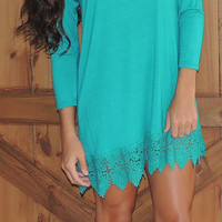 Keisha Crochet Dress- Jade