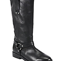 Joie - Babson Leather Knee-High Moto Boots - Saks Fifth Avenue Mobile