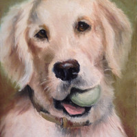 "Pet portrait oil painting of your pet 5"" x 7"" oil portrait"