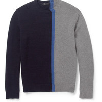 Alexander Wang - Panelled Merino Wool-Blend Sweater | MR PORTER