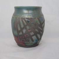 Raku Lidded Jar by earthtoartceramics on Etsy