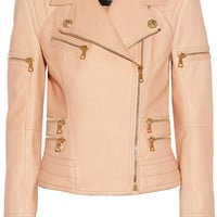 Balmain Leather biker jacket – 53% at THE OUTNET.COM