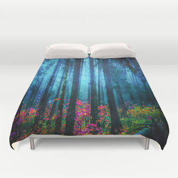 Magicwood #Night Duvet Cover by Armine Nersisian