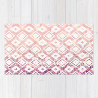 Diamond Blush Area & Throw Rug by Lisa Argyropoulos | Society6
