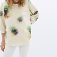 OVERSIZED PRINTED SWEATSHIRT
