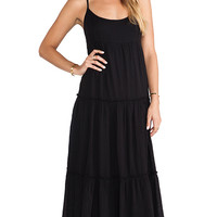 Velvet by Graham & Spencer Delize Sheery Jersey Dress in Black