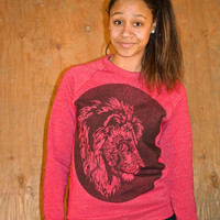 Women's Sweaters - Design - Lion - Oversize Sweater - Hipster Sweater - Sweater Dress - Super Soft Slouchy Sweater