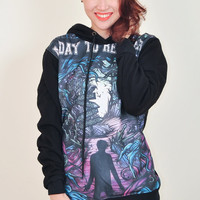 A Day To Remember Homesick Punk Rock Hoodie Jacket Biker Sweater Tops Women Girl Sz S,M,L