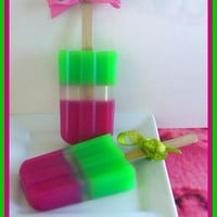 Soapsicle - Watermelon Green Apple - Soap Popsicle - Party Favors | Luulla