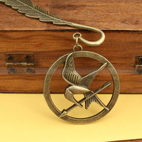 Katniss Arrow with Mockingjay Bookmark The Hunger by luckyvicky