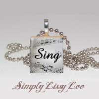 Sing Scrabble Tile Necklace | Luulla