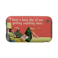 busy day of nothing iphone 3 tough cover from Zazzle.com