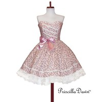 Custom made in Your size CREAM Darla Teaparty by priscilladawn