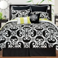 Sunset and Vines Kennedy 8-pc. Comforter Set - King