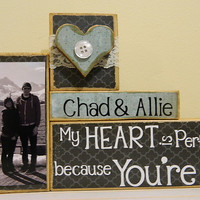 Personalized Wedding gift/Decoration My heart is by FayesAttic11