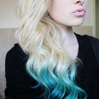 AQUATIC MIX Blue and Turquoise Hair by WarriorsOfCulture on Etsy