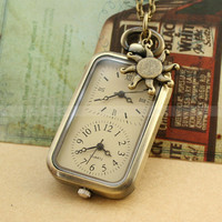 Pocket watchVintage pocket watch necklace with double by mosnos