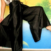 Thai Silk Yoga Pants Fisherman Hippie Pants Wrap by myuniverse